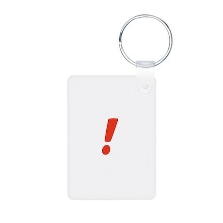 Exclamation Point Aluminum Photo Keychain