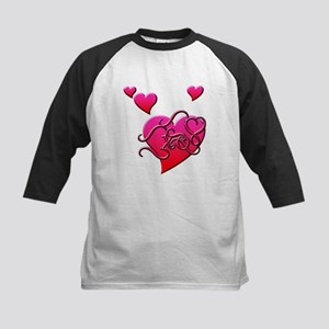 Hugs and a Quick Kiss Kids Baseball Jersey