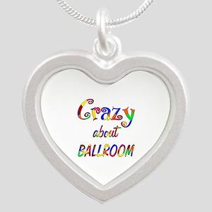 Crazy About Ballroom Silver Heart Necklace