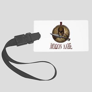 Spartan Skull w/ Sword Molon Labe Large Luggage Ta