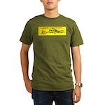 Drone Hunting Permit Organic Men's T-Shirt (dark)