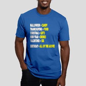 Funny Birthday Men's Fitted T-Shirt (dark)