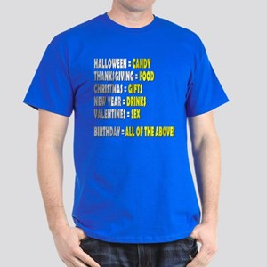 Funny Birthday Dark T-Shirt