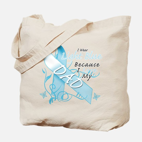 I Wear Light Blue Because I Love My Dad.png Tote B