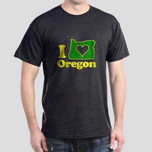 I Heart (Love) Oregon Dark T-Shirt