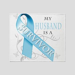 My Husband is a Survivor Throw Blanket