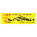 Drone Hunting Permit (Bumper Sticker)