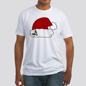 Santa Hat Fitted T-Shirt