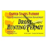 Drone Hunting Permit Sticker (Rectangle 50 pk)