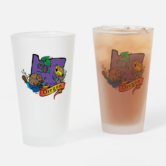 Oregon Map Drinking Glass
