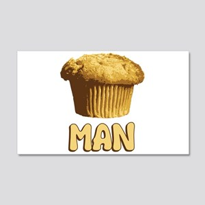Muffin Man T-Shirt 20x12 Wall Decal