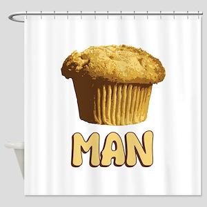 Muffin Man T-Shirt Shower Curtain