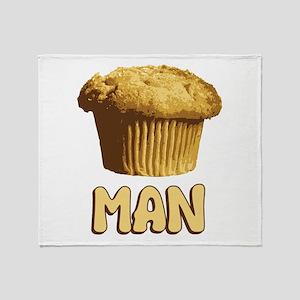 Muffin Man T-Shirt Throw Blanket