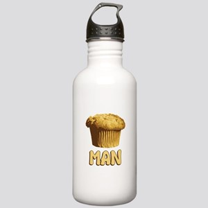 Muffin Man T-Shirt Stainless Water Bottle 1.0L