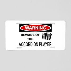 Accordion Player Aluminum License Plate