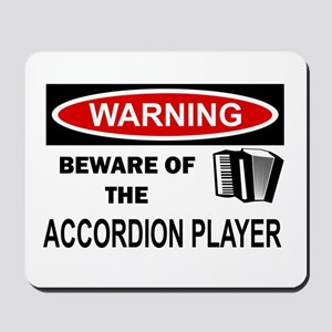Accordion Player Mousepad