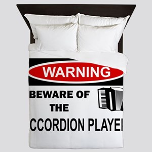 Accordion Player Queen Duvet