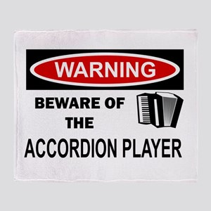 Accordion Player Throw Blanket