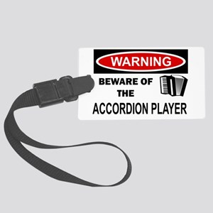Accordion Player Large Luggage Tag