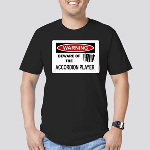 Accordion Player Men's Fitted T-Shirt (dark)