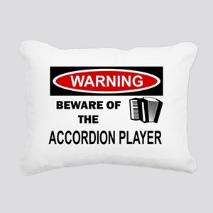 Accordion Player Rectangular Canvas Pillow