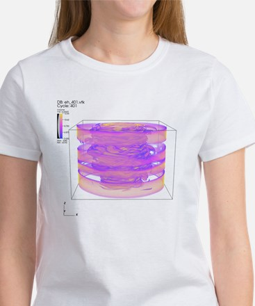 Turbulent gas flow simulation - Women's T-Shirt