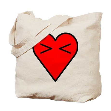 Anti-Valentine's Day Emoticon Heart Tote Bag
