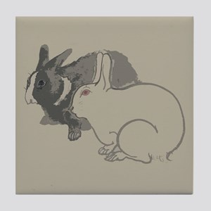 Forest Rabbit Tile Coaster