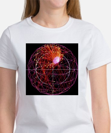 Simulated neutrino event - Women's T-Shirt