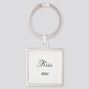 Kiss Me Square Keychain
