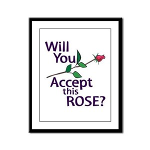 Will You Accept this Rose Framed Panel Print