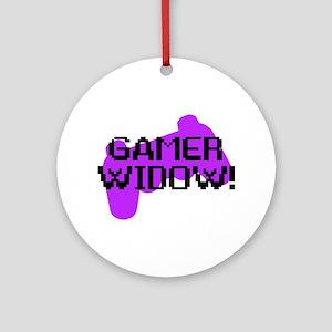 Gamer Widow Ornament (Round)