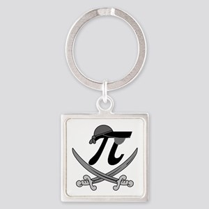 Pi - Rate Greyscale Square Keychain