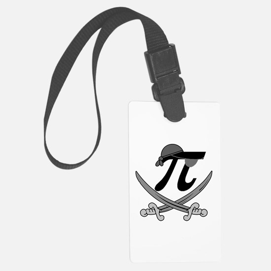 Pi - Rate Greyscale Luggage Tag