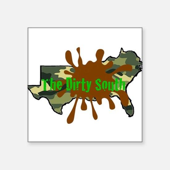 """The Dirty South Camo Logo Square Sticker 3"""" x 3"""""""