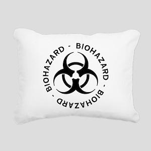 Biohazard Warning Rectangular Canvas Pillow