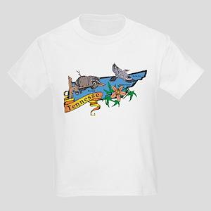 Tennessee Map Kids Light T-Shirt