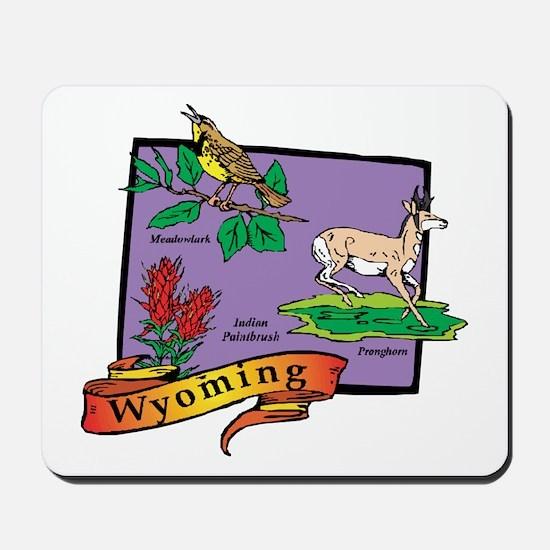 Wyoming Map Mousepad