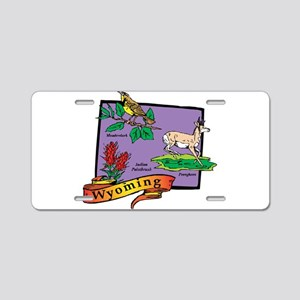 Wyoming Map Aluminum License Plate