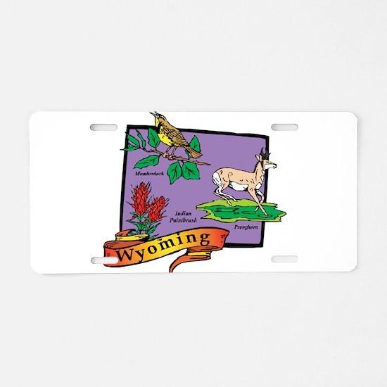 Wyoming Map Aluminum License Plate