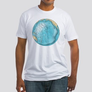 Pacific Ocean sea floor topography - Fitted T-Shir
