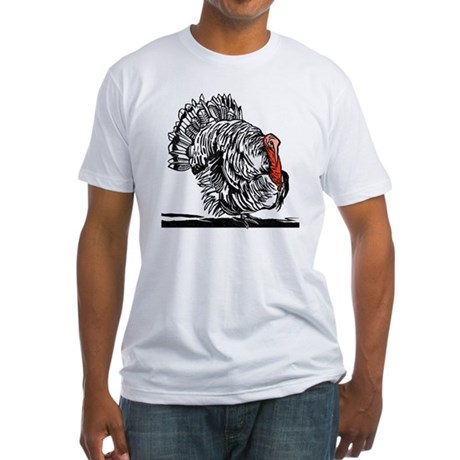 Turkey, woodcut - Fitted T-Shirt