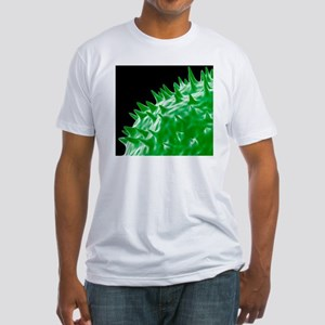 Influenza virus protein spikes - Fitted T-Shirt