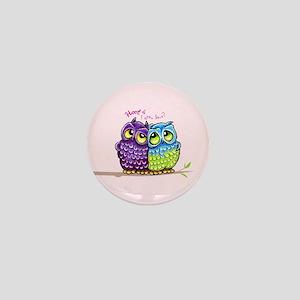 Owls in Love Mini Button