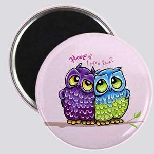 Owls in Love Magnet