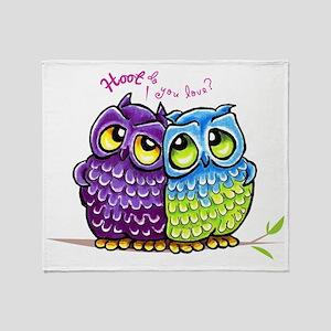 Owls in Love Throw Blanket