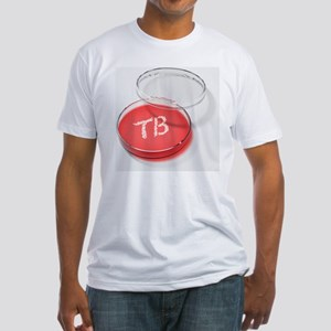 Tuberculosis bacteria in a petri dish - Fitted T-S