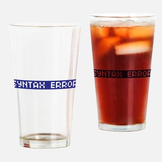 Syntax Error Drinking Glass