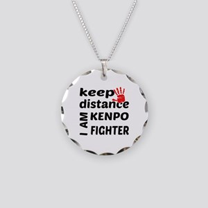 Keep distance I am Kenpo fig Necklace Circle Charm