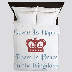 Queen is happy Queen Duvet